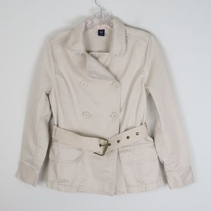 GAP Lightweight Khaki Belted Jacket XS